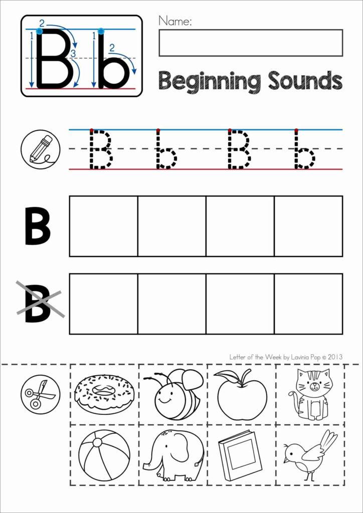 18 Letter B Worksheets For Practicing | Kittybabylove Regarding Letter B Worksheets For First Grade