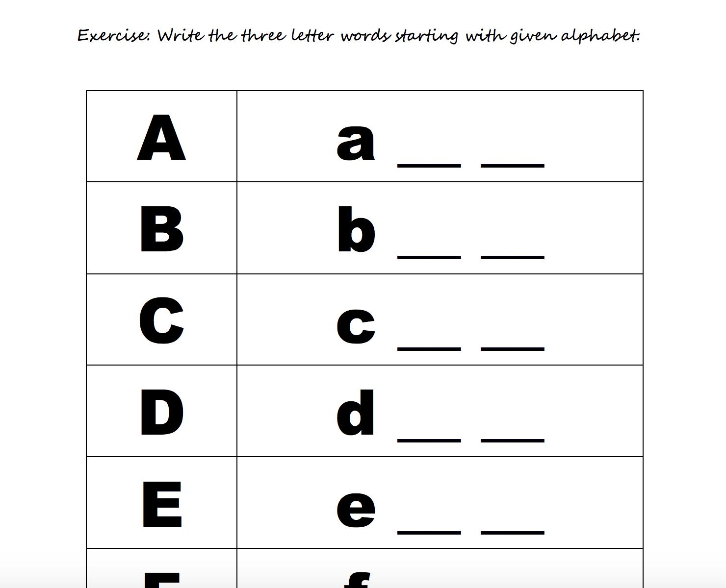 208 Free Alphabet Worksheets with Alphabet Worksheets Esl Pdf