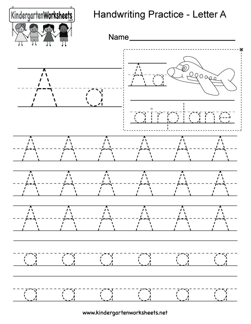 5 Letter A Preschool Printables | Writing Practice with Letter 5 Worksheets