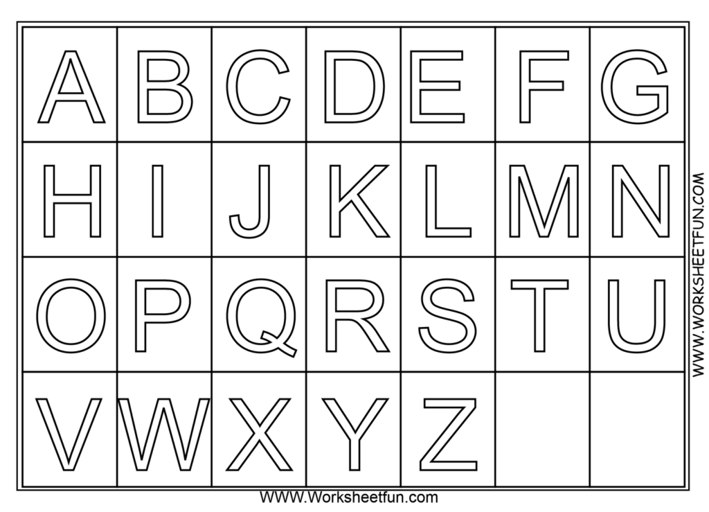 A Z Alphabet Coloring Pages Download And Print For Free Pertaining To A Z Alphabet Worksheets Kindergarten