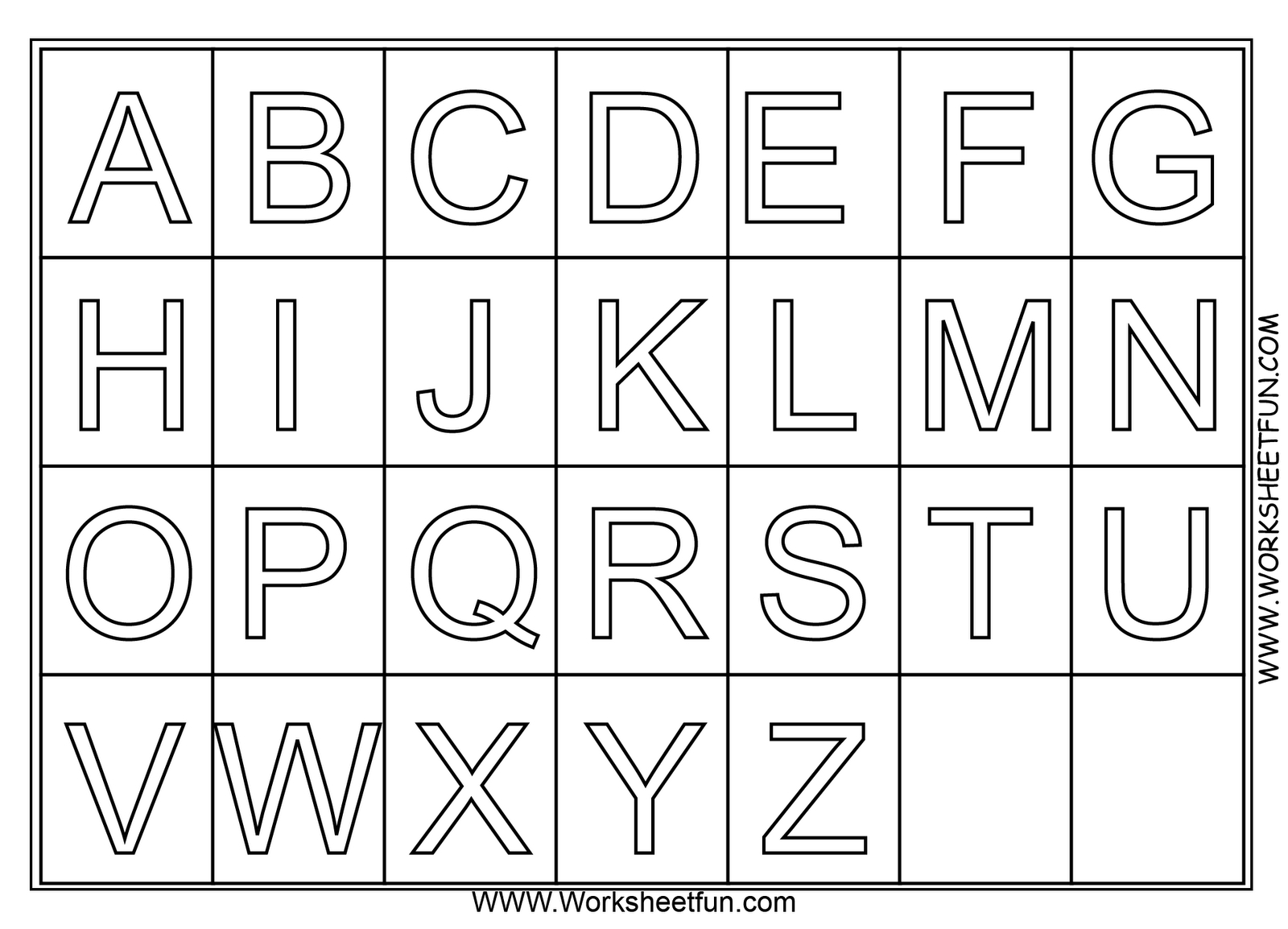 A Z Alphabet Coloring Pages Download And Print For Free throughout Alphabet Worksheets Free Download