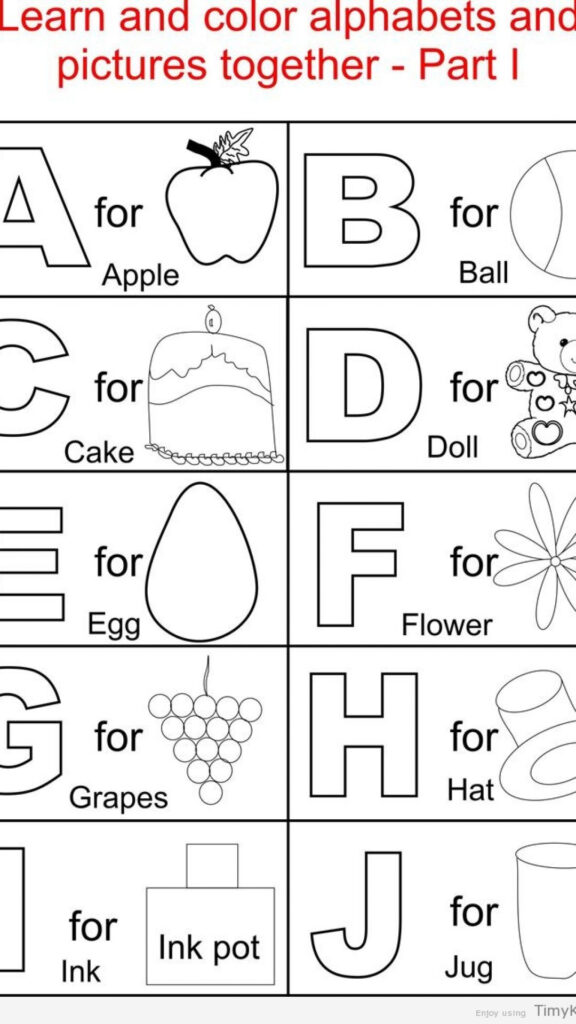Abc Coloring Pages Pdf Intended For Alphabet Coloring Worksheets Pdf