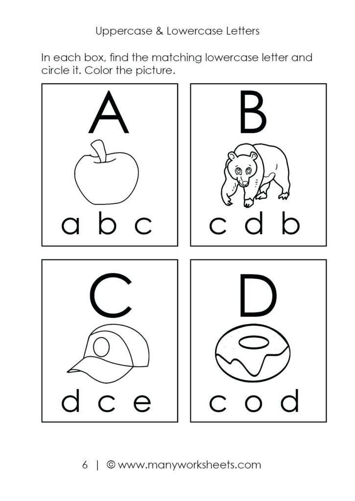 Abc Printable Worksheets – Giftedpaper.co Within Alphabet Recognition Worksheets For Kindergarten