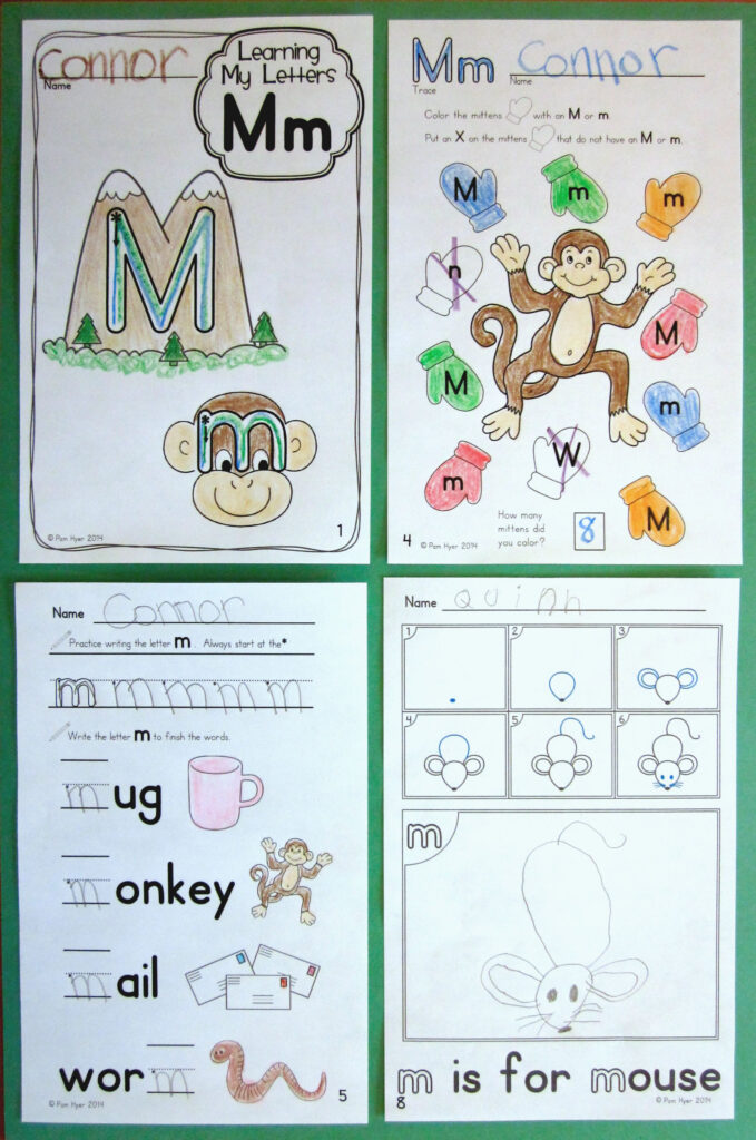Alphabet Activities: Learning My Letters [Mm] | Kindergarten Within Letter M Worksheets For First Grade