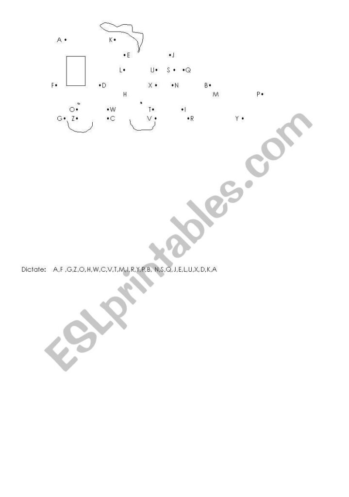 Alphabet Dictation   Train   Esl Worksheetmagdas75 In Alphabet Dictation Worksheets