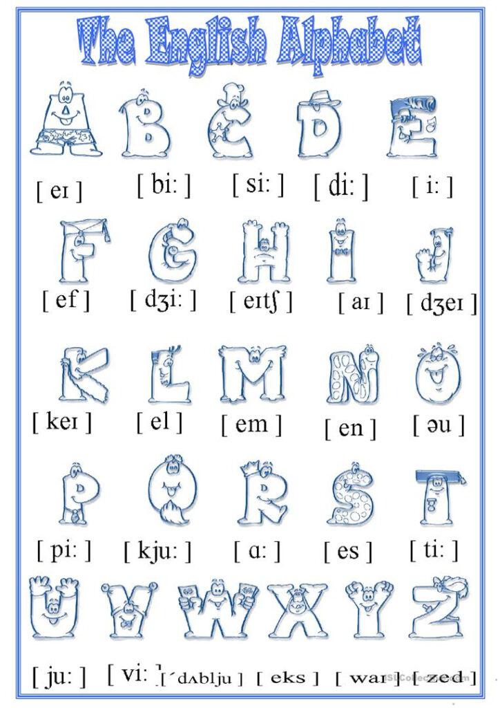 Alphabet   English Esl Worksheets For The Alphabet Worksheets Esl
