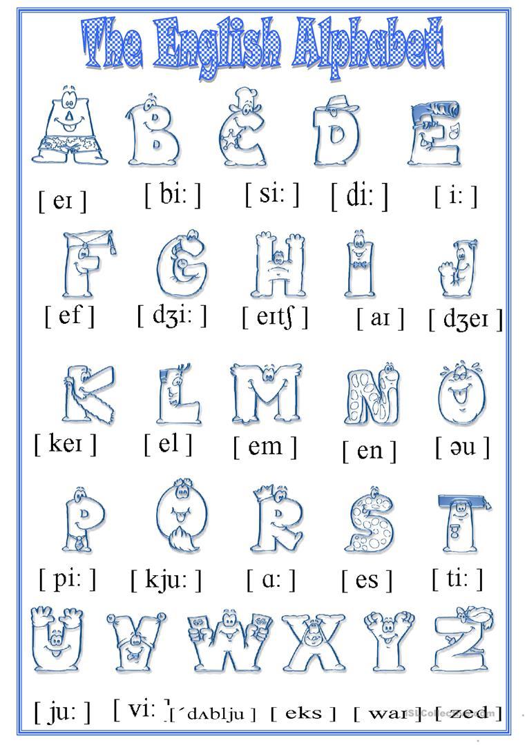 Alphabet - English Esl Worksheets for The Alphabet Worksheets Esl