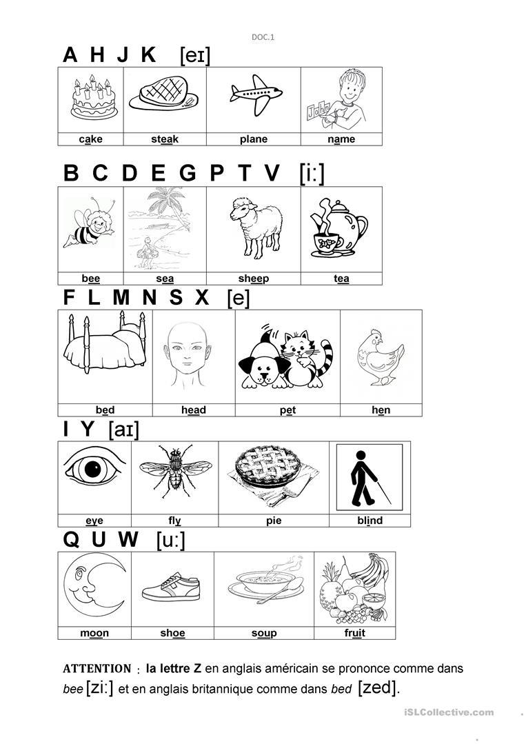 Alphabet - English Esl Worksheets regarding Alphabet Sounds Worksheets Esl