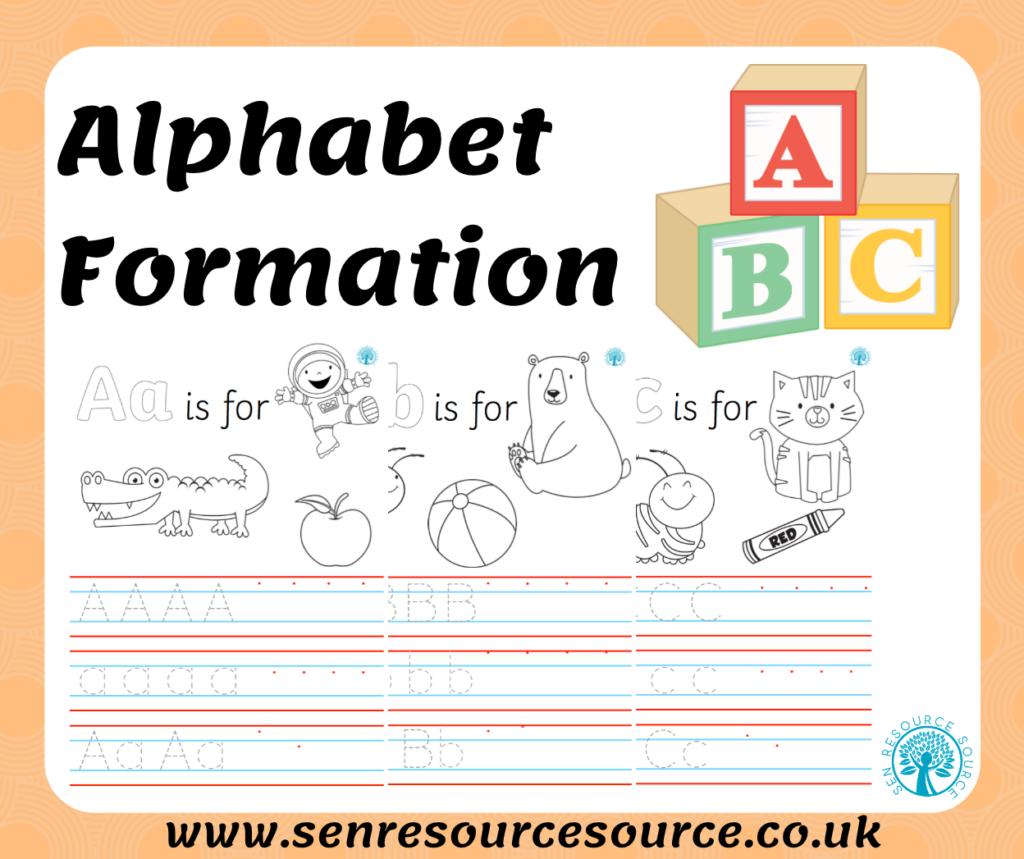 Alphabet Formation Handwriting Sheets With Alphabet Handwriting Worksheets Uk