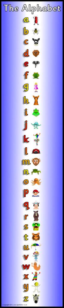 Alphabet Frieze Display Banner – Vertica (Sb5279)   Sparklebox Pertaining To Letter S Worksheets Sparklebox