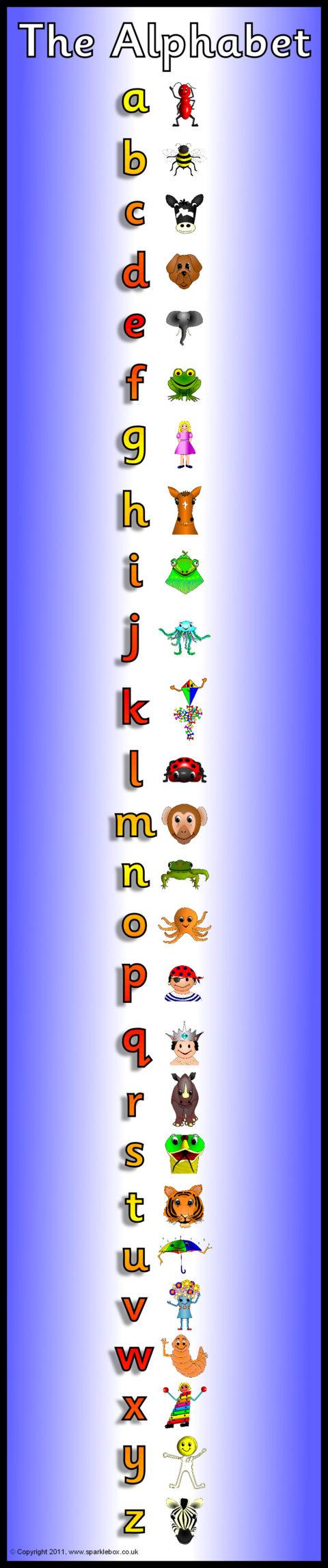 Alphabet Frieze Display Banner – Vertica (Sb5279) - Sparklebox pertaining to Letter S Worksheets Sparklebox