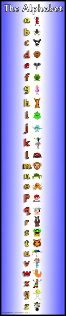 Alphabet Frieze Display Banner – Vertica (Sb5279)   Sparklebox Within Alphabet Worksheets Sparklebox
