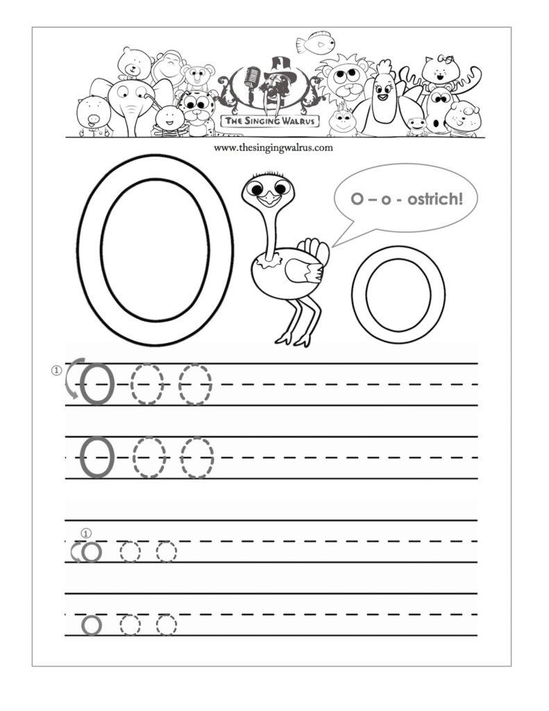 Alphabet Letter O Worksheets | Printable Shelter Within Alphabet O Worksheets