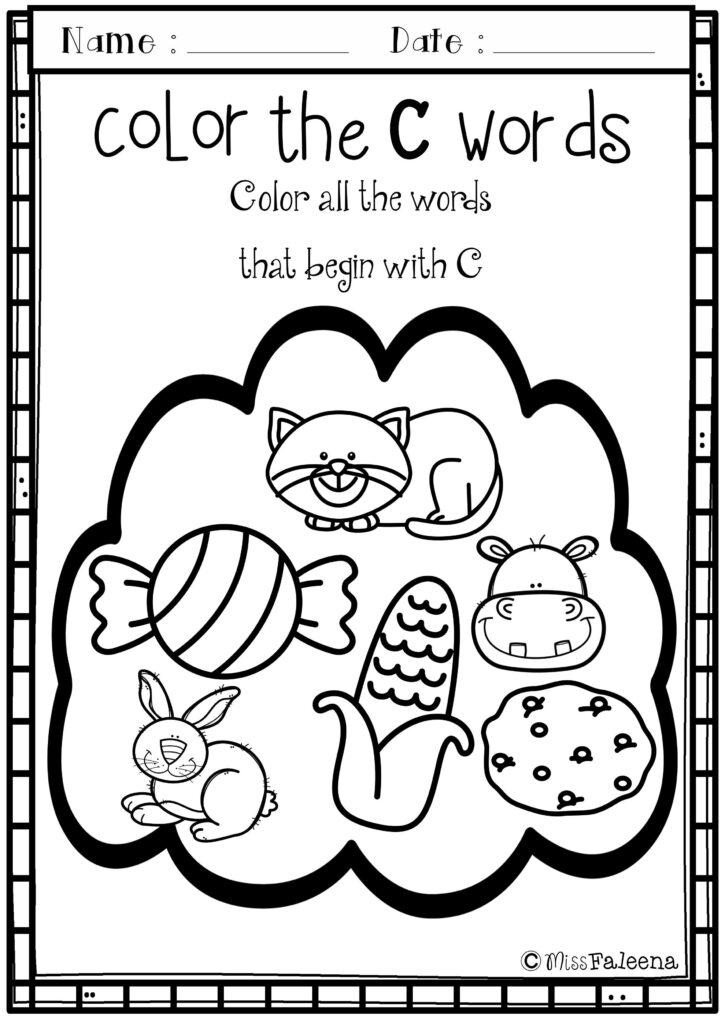 Alphabet Letter Of The Week C | Kids Education, Word Games Inside Letter C Worksheets For Toddlers