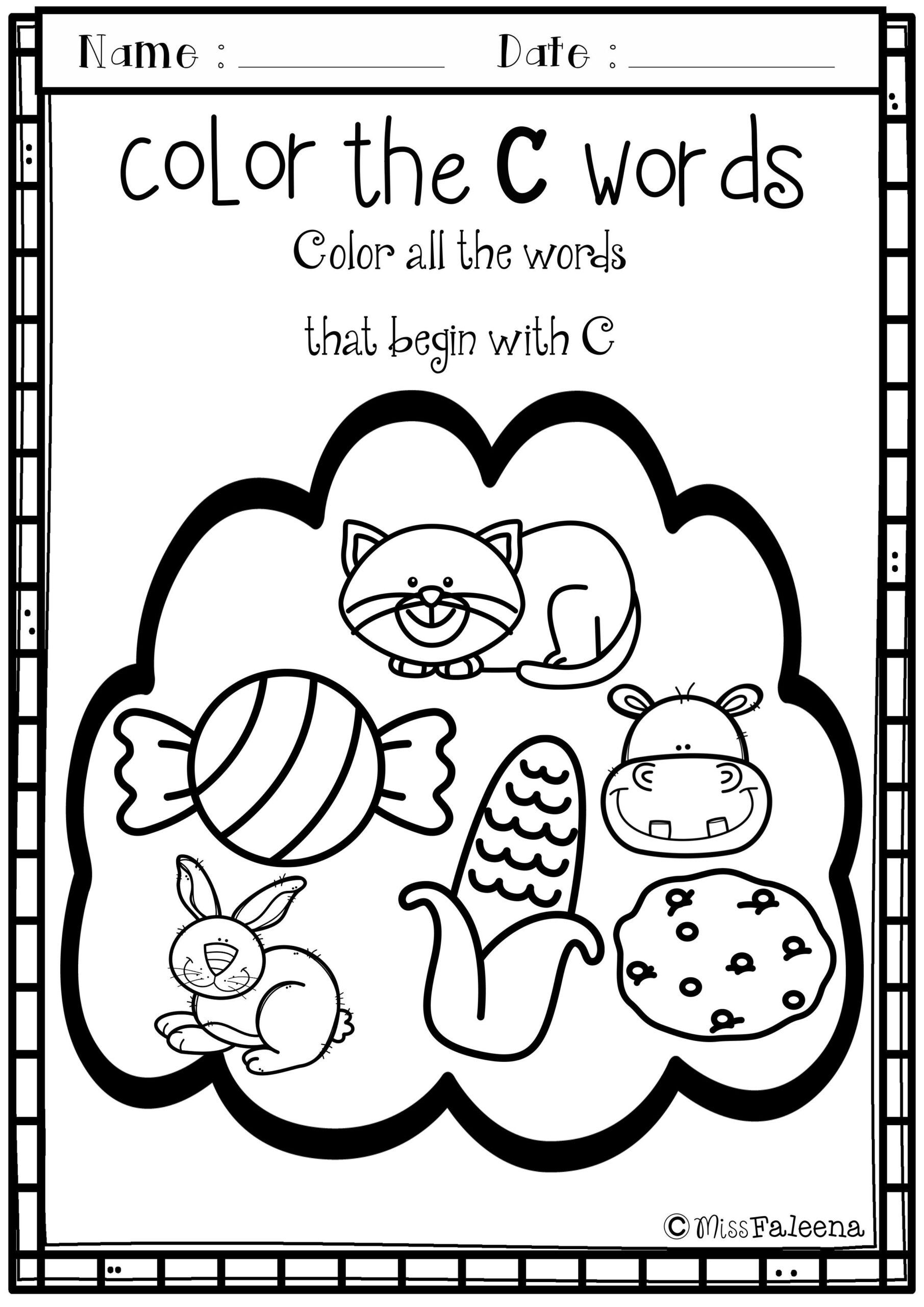 Alphabet Letter Of The Week C | Kids Education, Word Games inside Letter C Worksheets For Toddlers