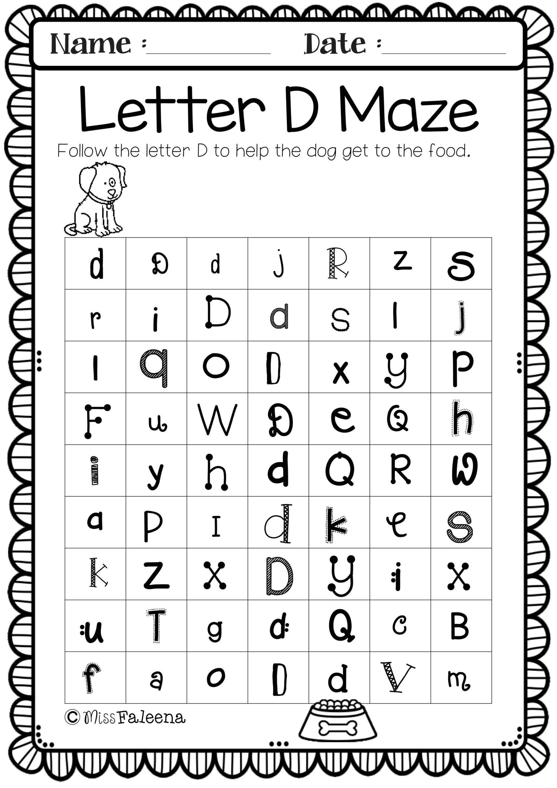 Alphabet Letter Of The Week D   Teacher Worksheets, Letter inside Alphabet Homework Worksheets