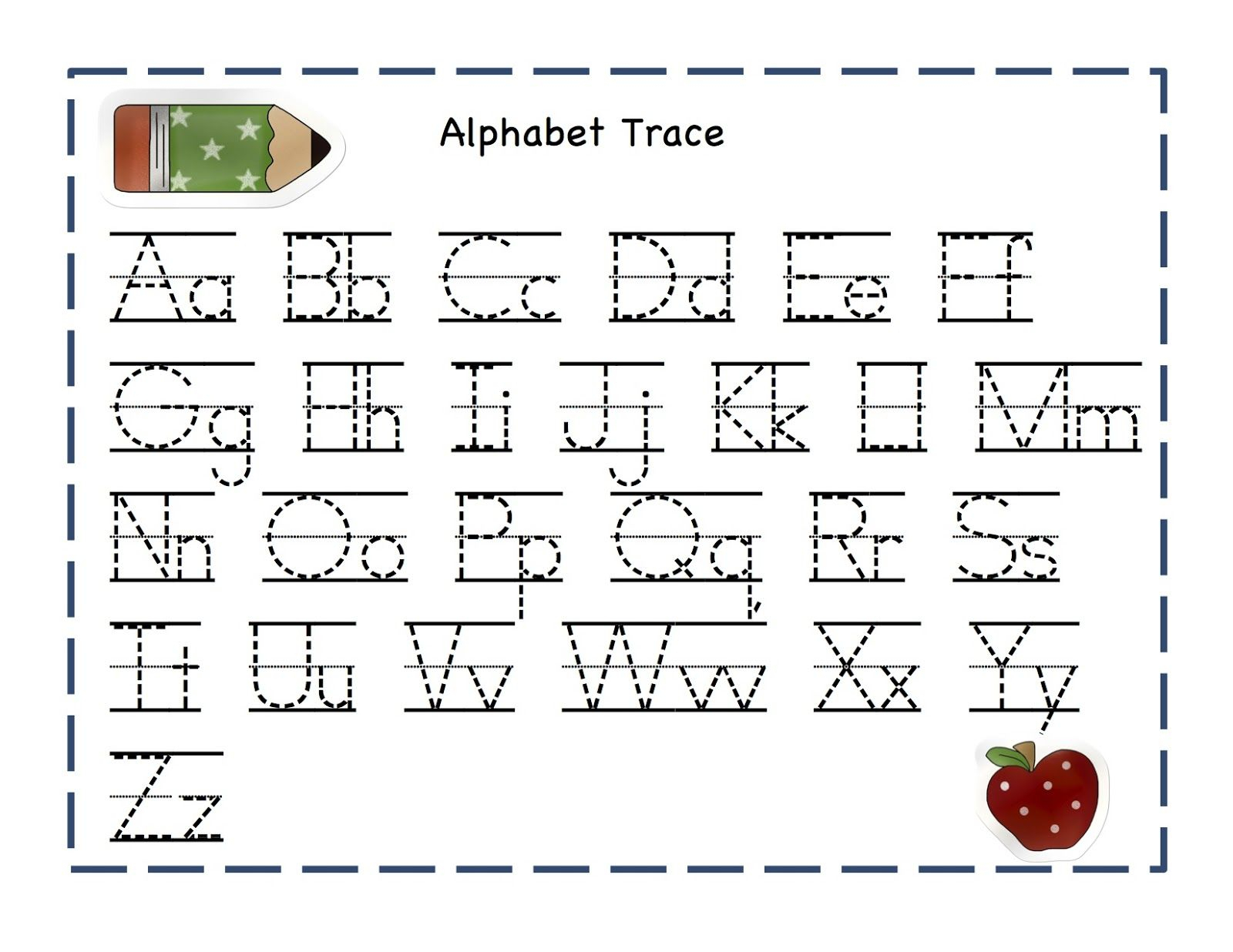 Alphabet Tracing Pages 1 | Alphabet Tracing, Preschool pertaining to Grade 1 Alphabet Worksheets