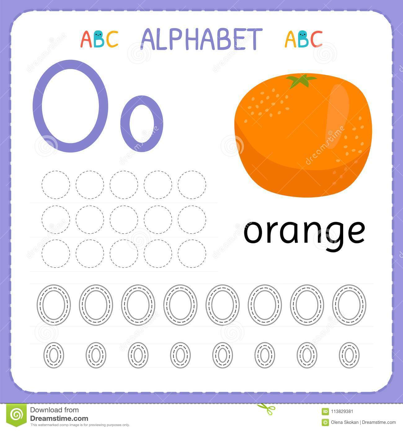 Alphabet Tracing Worksheet For Preschool And Kindergarten regarding Letter O Worksheets For Kindergarten Free