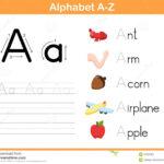 Alphabet Tracing Worksheet Stock Vector. Illustration Of Inside Alphabet Writing Worksheets Free