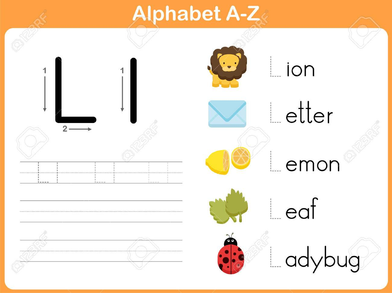 Alphabet Tracing Worksheet: Writing A-Z regarding Alphabet Worksheets A To Z