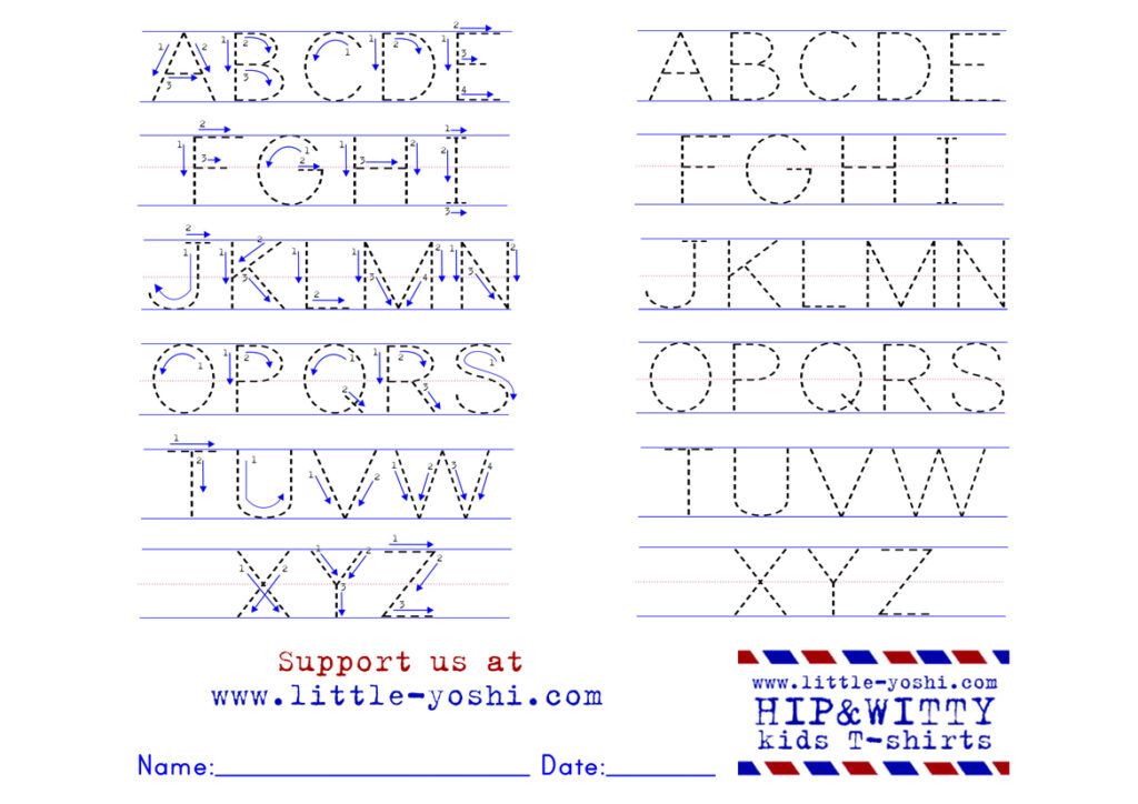 Alphabet Tracing Worksheets With Arrows In Alphabet Tracing Worksheets With Arrows