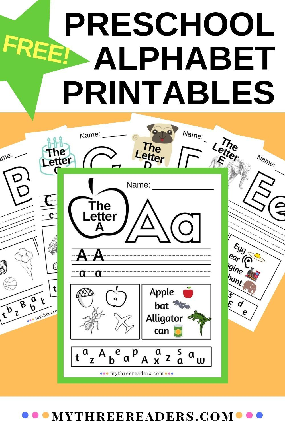 Alphabet Worksheets A-Z | Abc Printables For Preschool within Alphabet Worksheets Az