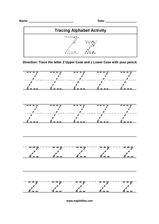 Alphabet Worksheets For Kindergarten To Z Pdf Kids inside Alphabet Handwriting Worksheets A To Z