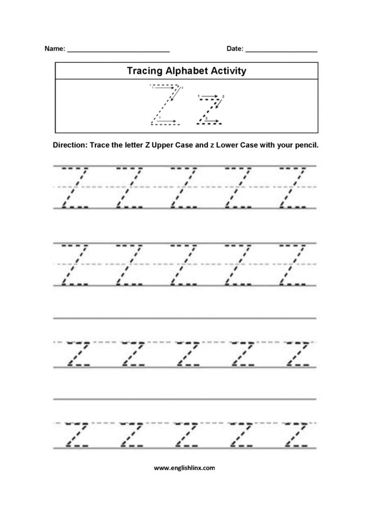Alphabet Worksheets For Kindergarten To Z Pdf Kids Within Reading A Z Alphabet Worksheets
