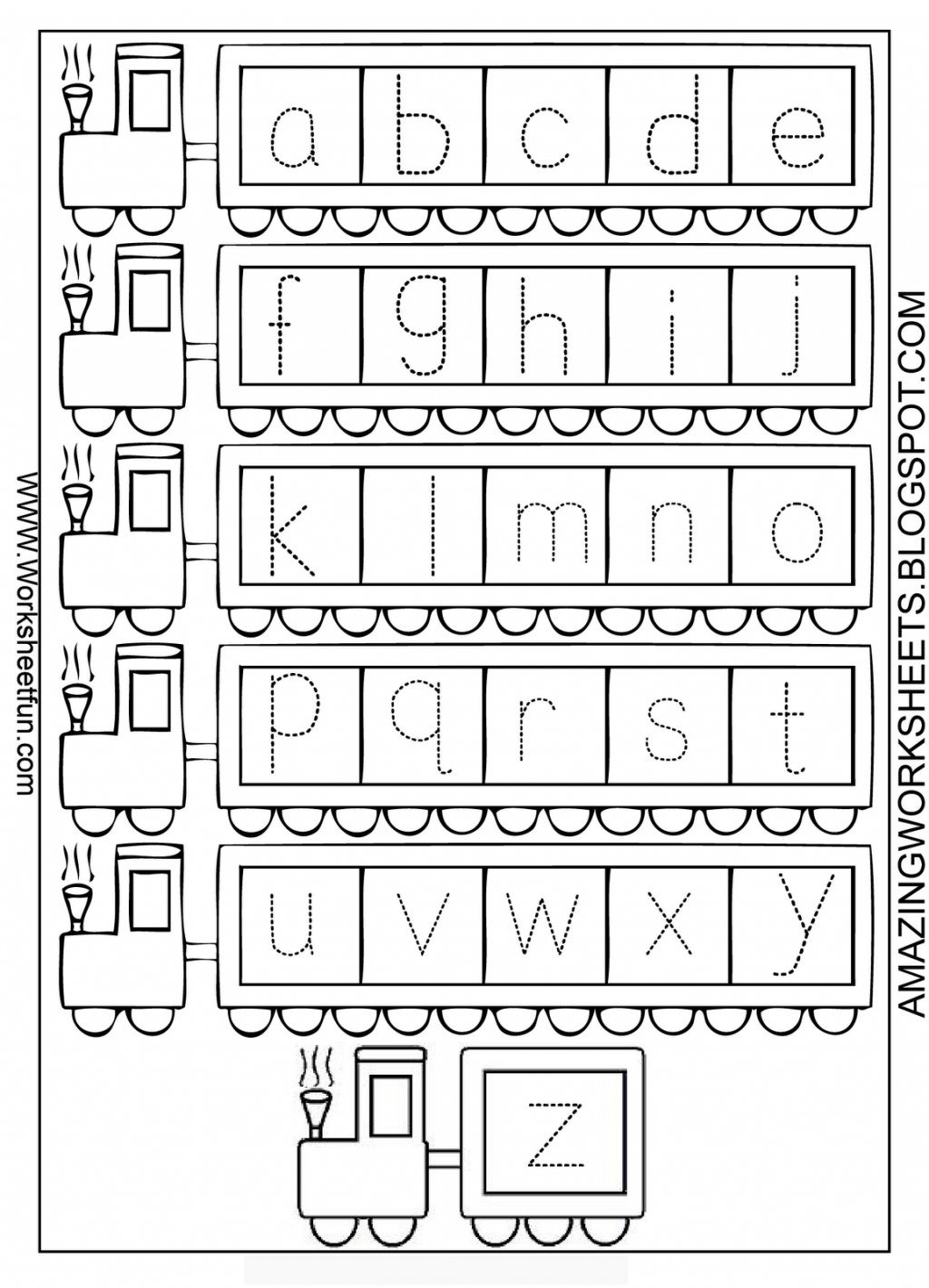 Alphabet Worksheets For Kindergarten Z Worksheetfun Az in A-Z Alphabet Worksheets Kindergarten
