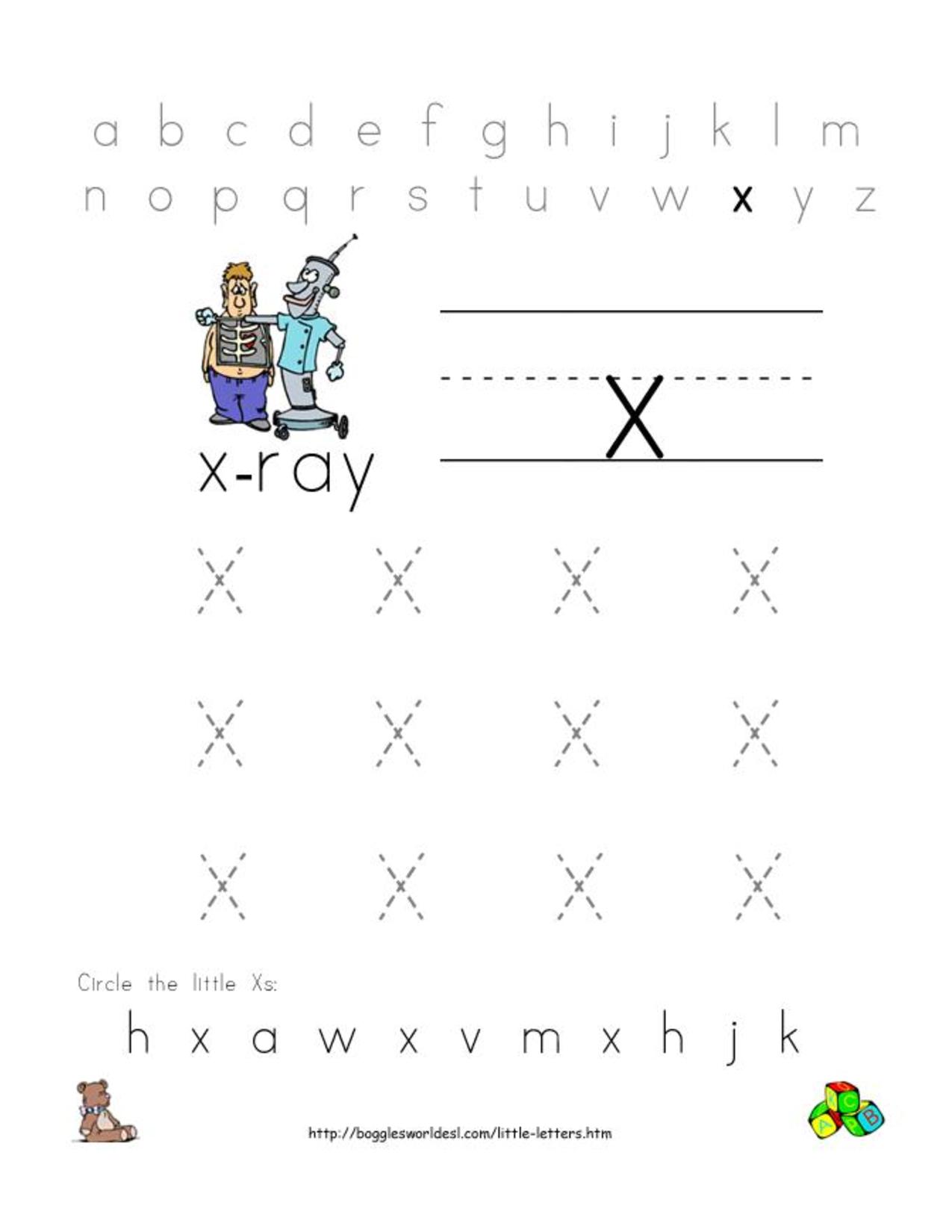 Alphabet Worksheets For Preschoolers | Alphabet Worksheet inside Letter X Worksheets For Prek