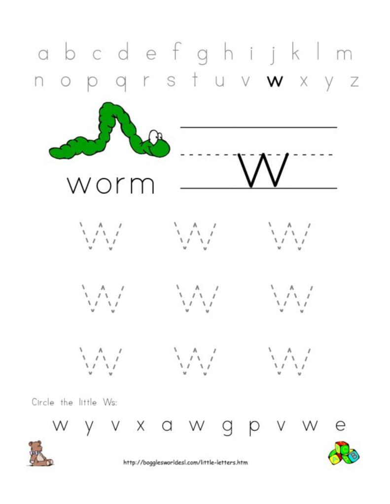 Alphabet Worksheets For Preschoolers | Alphabet Worksheet Intended For Letter W Worksheets For Pre K