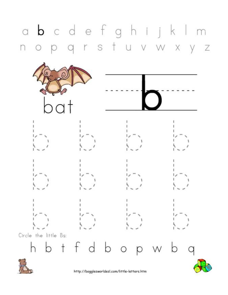 Alphabet Worksheets For Preschoolers | Alphabet Worksheet Regarding Letter B Worksheets For Prek