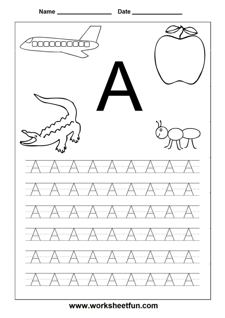 Alphabet Worksheets Free Printables | Letter Tracing Inside Free Printable Pre K Alphabet Worksheets