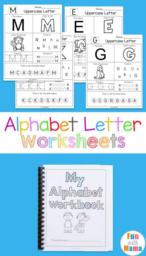 Alphabet Worksheets   Preschool Letters, Preschool Inside Pre K Alphabet Worksheets Free