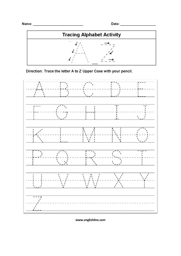 Alphabet Worksheets | Tracing Alphabet Worksheets In Alphabet Tracing Worksheets A Z