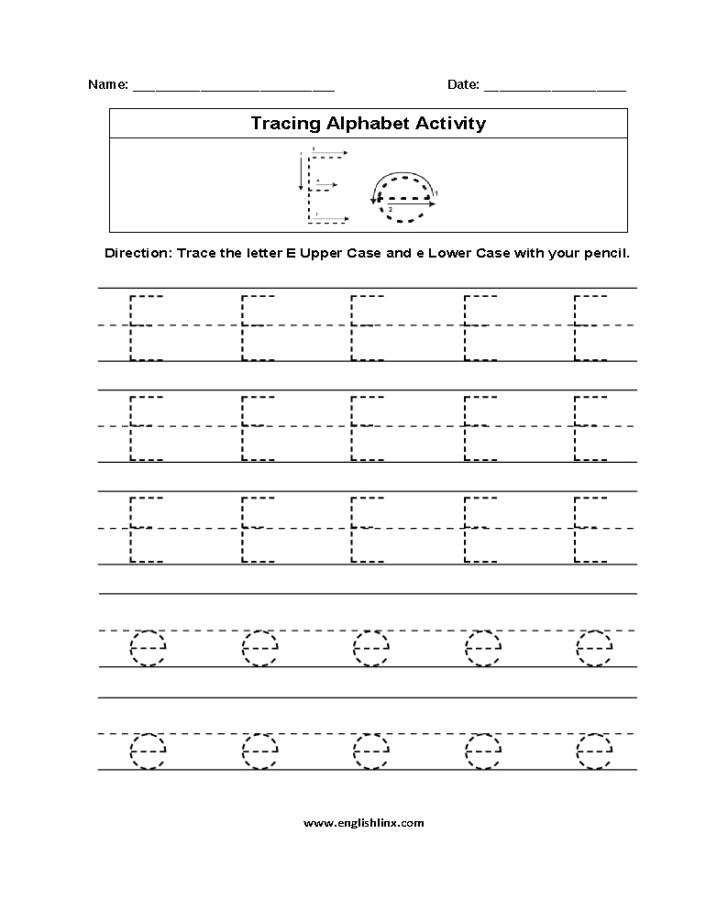 Letter E Worksheets For Grade 2
