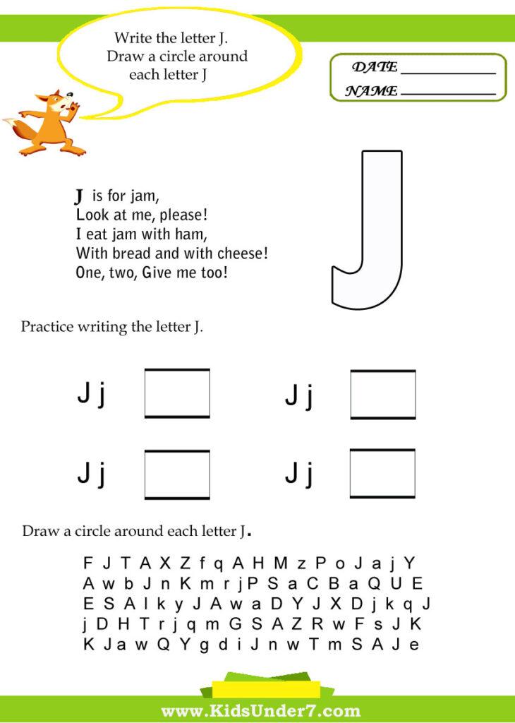 Alphabet Worksheetstrace And Print Letter J. Practice With Regard To Letter J Worksheets Sparklebox