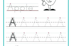 Alphabet Tracing Worksheets For Kindergarten Pdf