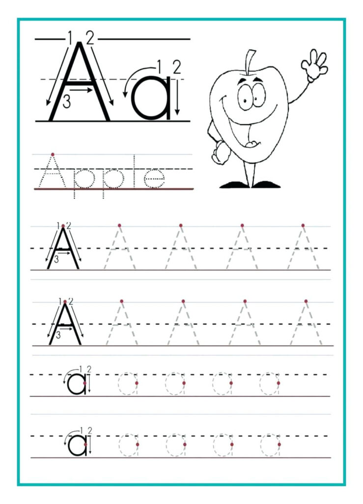 Alphabet Writing Page Free Writing Sheets For Kindergarten 1 Within Alphabet Tracing Worksheets For Kindergarten Pdf