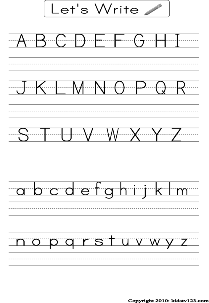 Alphabet Writing Practice Sheet | Alphabet Writing Practice Inside Alphabet Writing Worksheets For Kindergarten