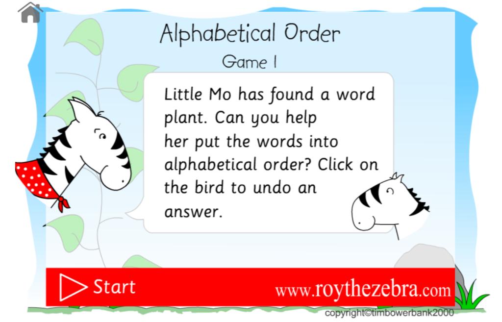 Alphabetical Order Game Pertaining To Alphabet Ordering Worksheets Ks1