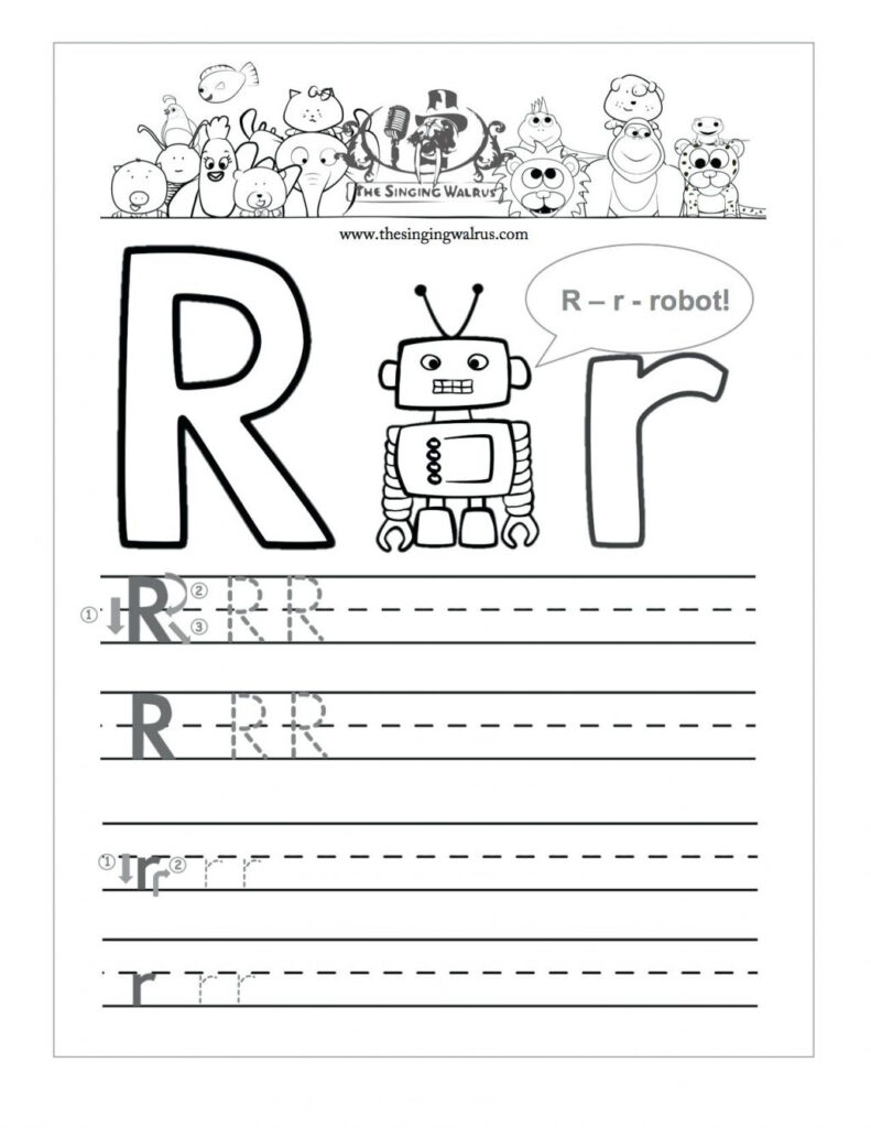 Az Worksheets For Kindergarten Letter R Tracing Worksheet In Letter R Worksheets Pdf