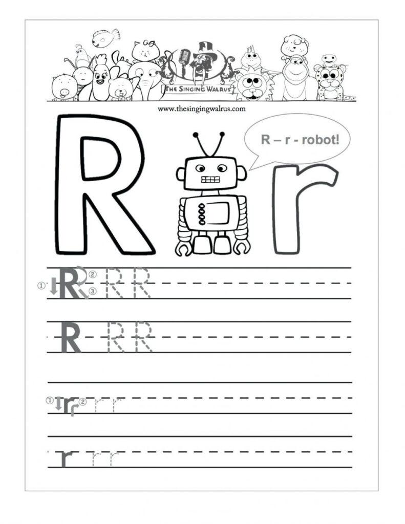 Az Worksheets For Kindergarten Letter R Tracing Worksheet Throughout Letter R Worksheets