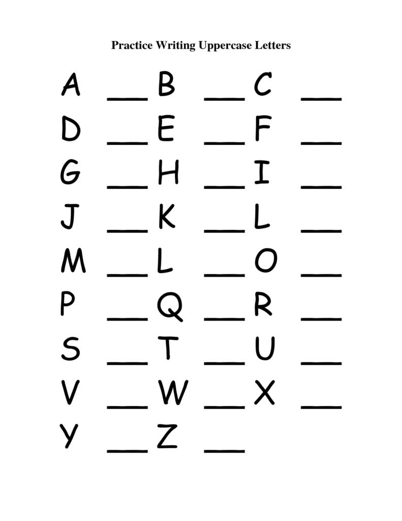 Capital Letter A Worksheets | Printable Worksheets And Regarding Alphabet Worksheets Capital