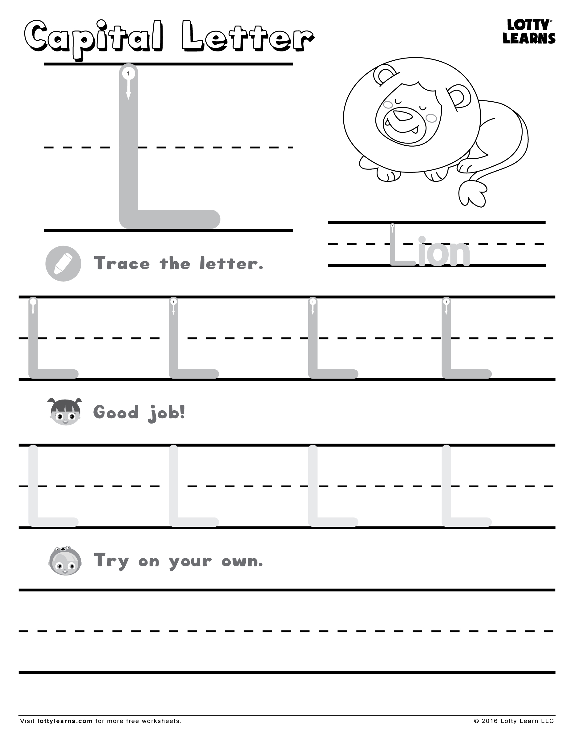 Capital Letter A Worksheets | Printable Worksheets And with Letter L Worksheets For First Grade