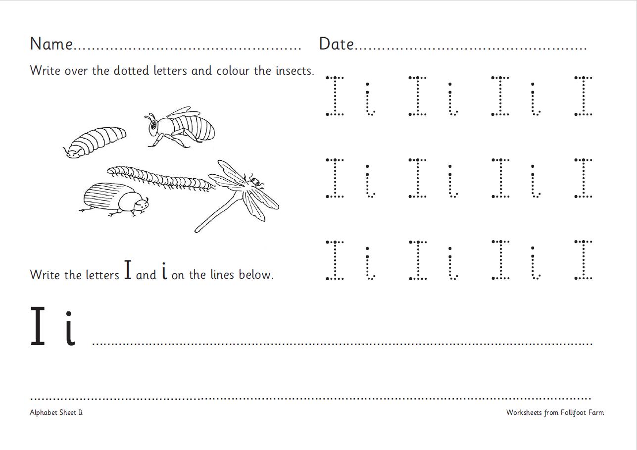 Capital Letter 'i' – Handwriting And Comprehension Worksheet with regard to Alphabet Worksheets Ks1