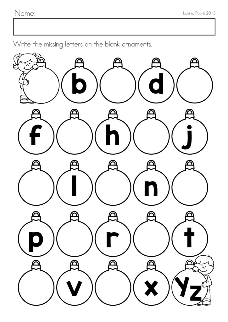 Christmas Math & Literacy Worksheets & Activities No Prep Throughout Alphabet Sequencing Worksheets For Kindergarten