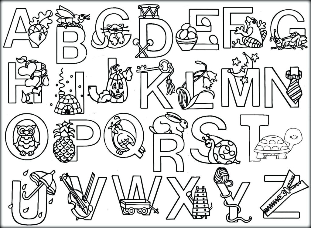 Coloring Book : Alphabetoloring Sheets Bookintable Pages Pertaining To Alphabet Colouring Worksheets