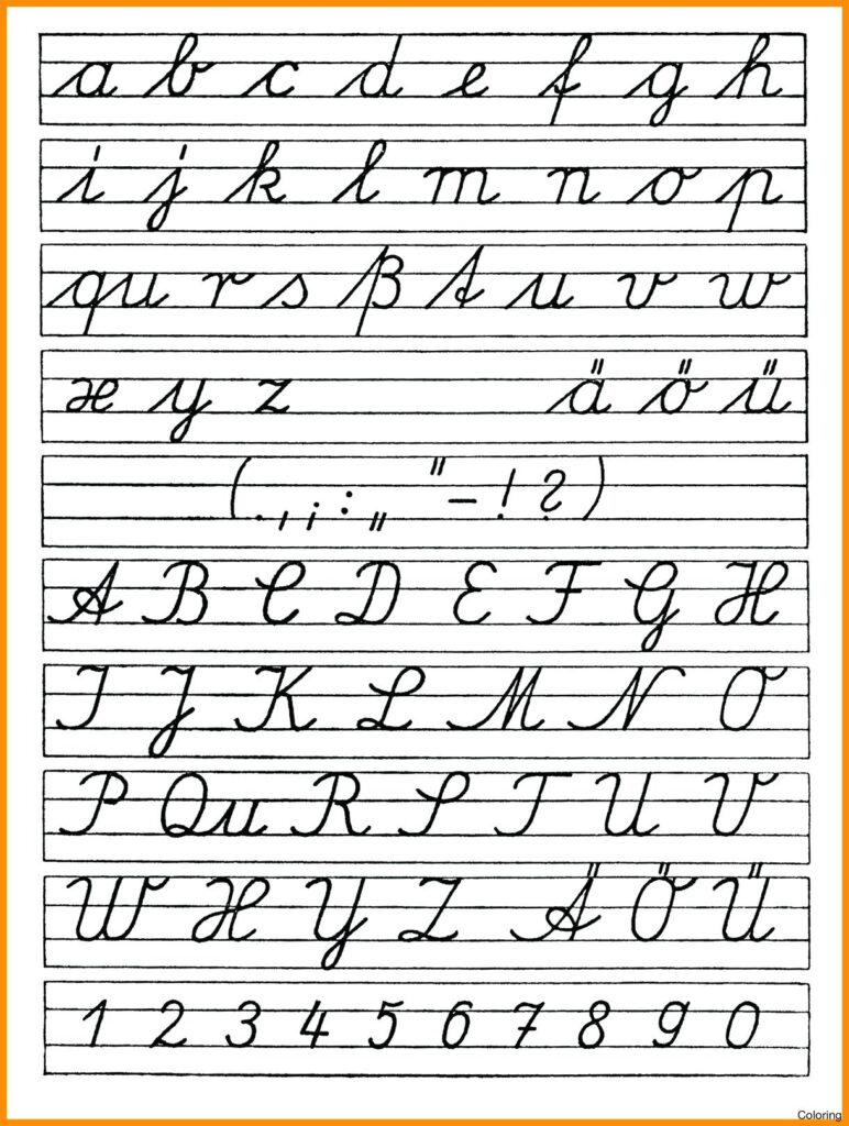 Coloring Book : Coloring Book Free Printable Cursives Chart Pertaining To Alphabet Cursive Worksheets Free Printable