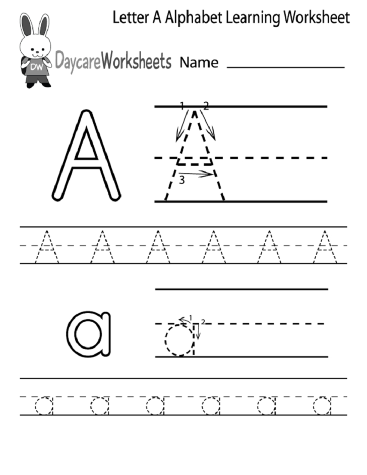 Alphabet Worksheets Kindergarten Free